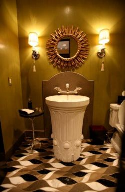 Art Deco Powder Room